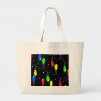 Christmas light large tote bag