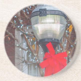 Christmas light post coaster