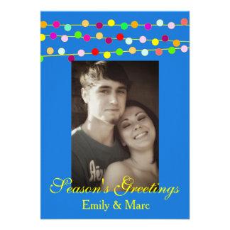 Christmas Light String Photo Card Annoucement