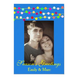 Christmas Light String Photo Card Annoucement 13 Cm X 18 Cm Invitation Card