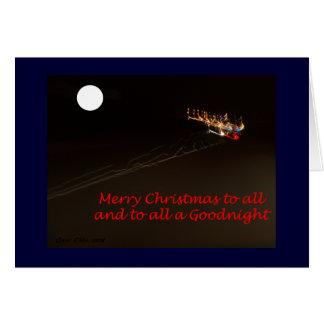 Christmas Light Trails Greeting Card