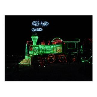 Christmas Light Train Postcard