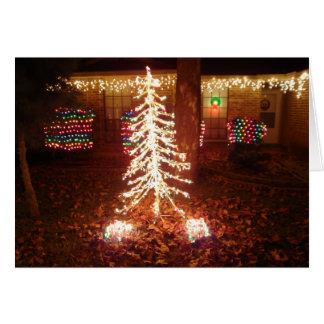 Christmas Lights At Night Greeting Card