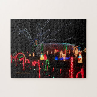 Christmas Lights at Night Puzzle!! Jigsaw Puzzle