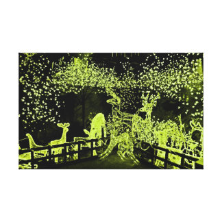 Christmas Lights Stretched Canvas Print