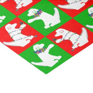 Christmas lights dog tissue paper