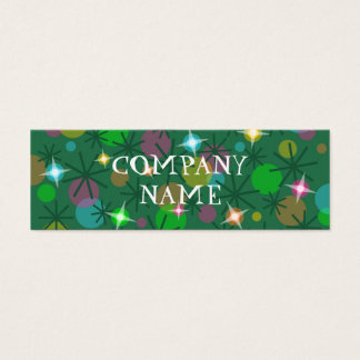 Christmas Lights front text white skinny Mini Business Card