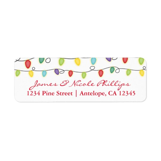 Christmas Lights Fun Holiday Card Address Labels