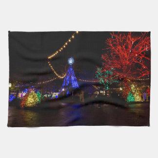 Christmas Lights Galore Tea Towel
