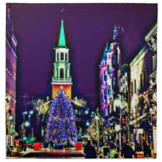 Christmas Lights in the City Napkin
