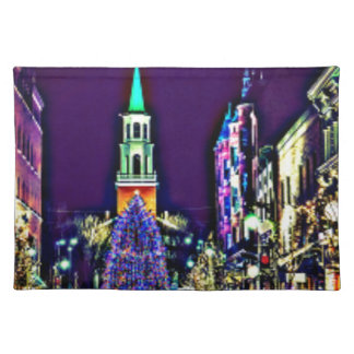 Christmas Lights in the City Placemat