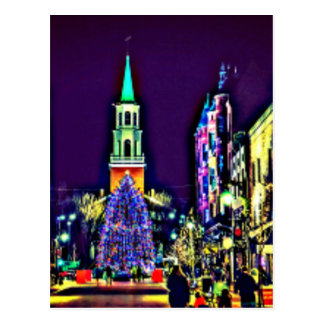 Christmas Lights in the City Postcard