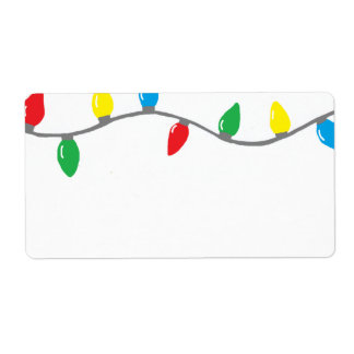 """""""Christmas Lights"""" Label Shipping Label"""