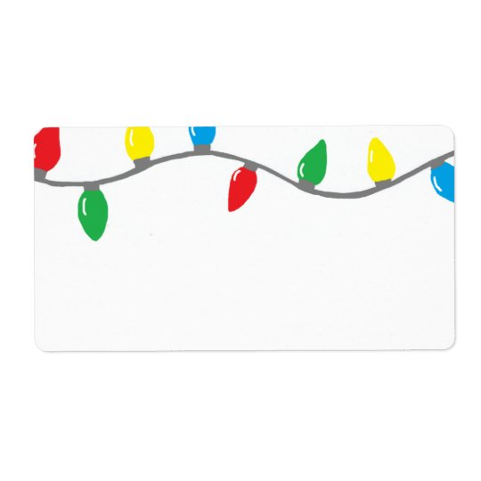 """Christmas Lights"" Label Shipping Label"