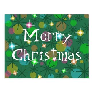 Christmas Lights Merry Christmas postcard