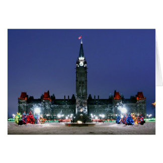 Christmas Lights on Parliament Hill, Ottawa Card