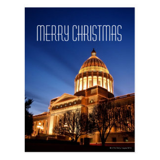 Christmas lights on the Capitol, Little Rock Postcard