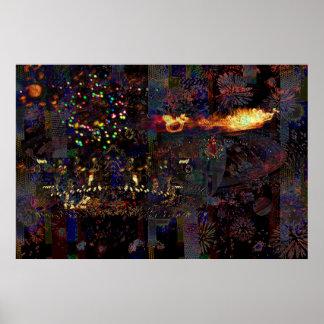 Christmas Lights Photo Manipulation 100_3207b Poster