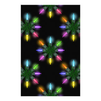 Christmas Lights Scrapbooking Papers Customized Stationery