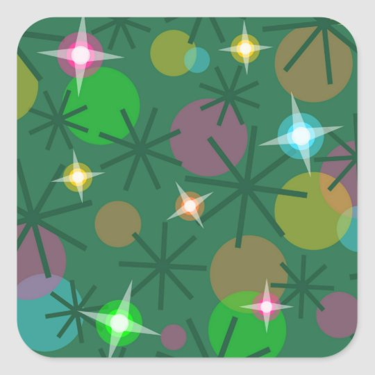 Christmas Lights sticker aquare