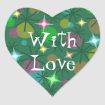 Christmas Lights 'With Love' sticker heart