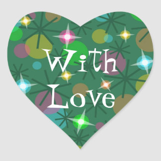 Christmas Lights With Love sticker heart