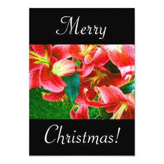 "Christmas Lilies 5"" X 7"" Invitation Card"