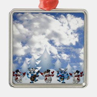 Christmas Line Dance Metal Ornament