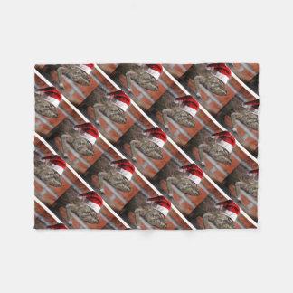 Christmas Lizard Fleece Blanket
