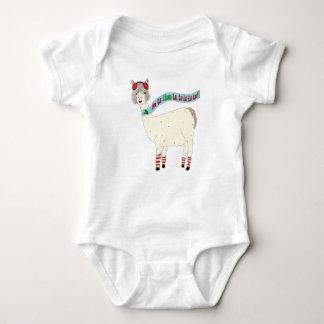 Christmas Llama Fa la llama la For Baby Baby Bodysuit