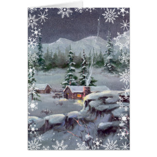 CHRISTMAS LOG CABIN by SHARON SHARPE Card