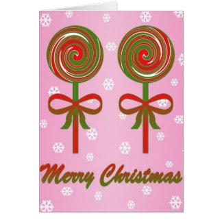 Christmas lollipops design card