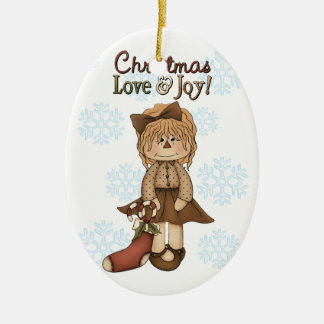 Christmas Love And Joy Ornament