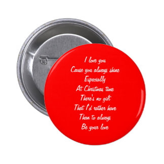 Christmas love buttons