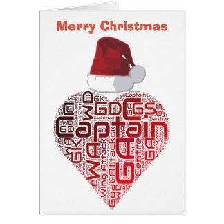 Christmas Love Heart Netball Design Card