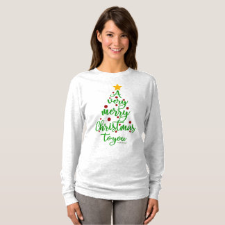 "Christmas LS T-shirt ""A Very Merry Christmas..."""