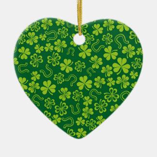 Christmas Lucky Irish Ceramic Ornament