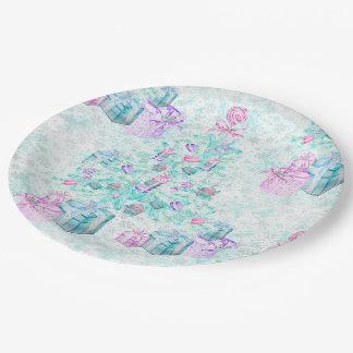 Christmas macarons paper plate