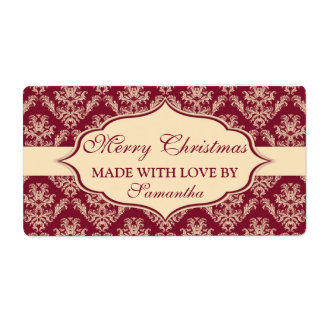 Christmas Made with Love labels Personalized