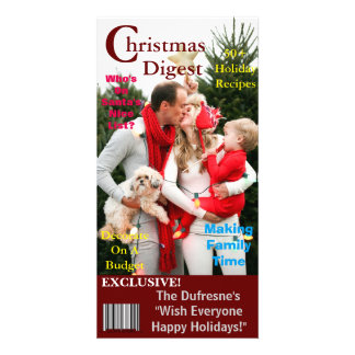 Christmas Magazine Cover Template Personalized Photo Card