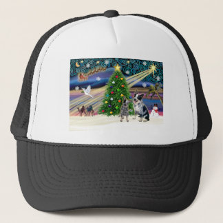 Christmas Magic Australian Cattle Dogs (two) Trucker Hat