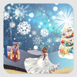 Christmas Magic Book 2 Square Sticker