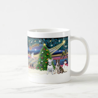 Christmas Magic Bull Terriers (two) Coffee Mug