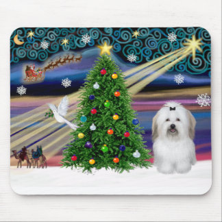 Christmas Magic Coton De Tulear Mouse Pad