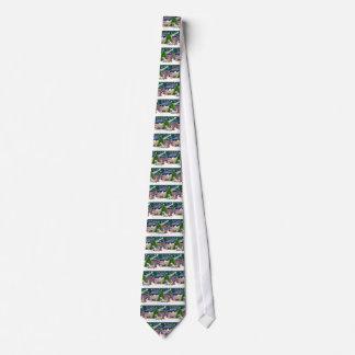 Christmas Magic English Bulldogs (two) Tie