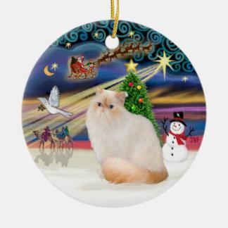 Christmas Magic - Himalayan Cat (Flame Point) Ceramic Ornament