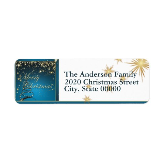 Christmas Magic Return Address Return Address Label