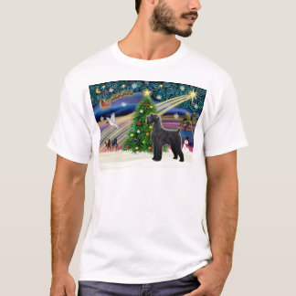 Christmas Magic Schnauzer (black Giant) T-Shirt