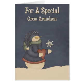 Christmas Magic Snowflake Great Grandson Card