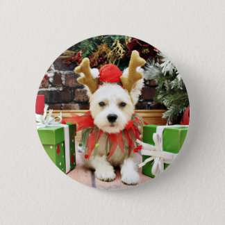 Christmas - Maltese X - Mugsy 6 Cm Round Badge